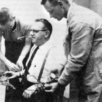 Milgram experiment man being strapped to a chair